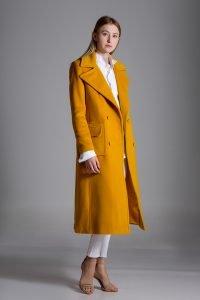 wintercoat, coat, yellow, cashmere