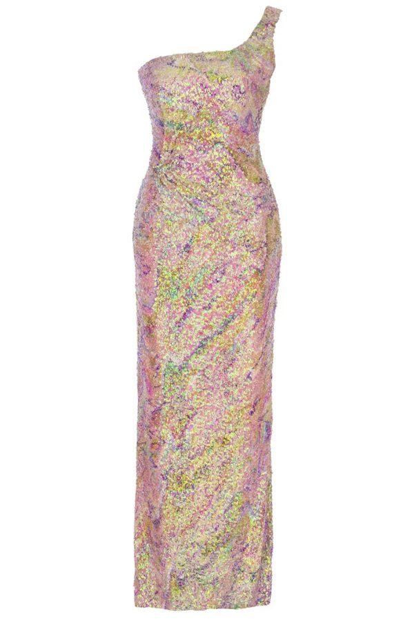 dress, maxidress, print, sequin