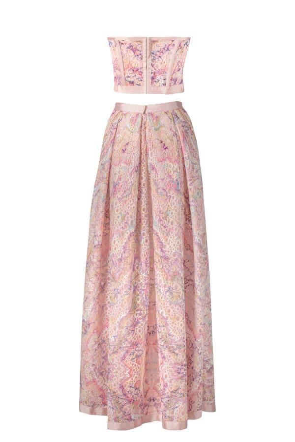 corset, skirt, print, ss21