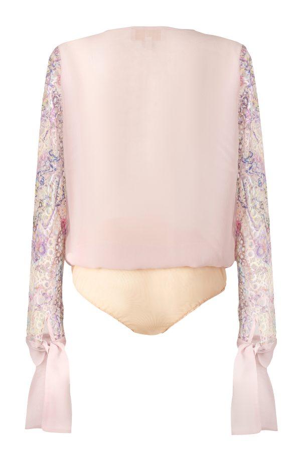 bodysuit,blouse, ss21, lace, print